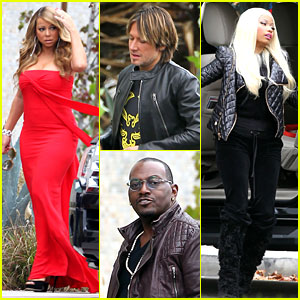 Mariah Carey & Nicki Minaj: 'American Idol' Filming!