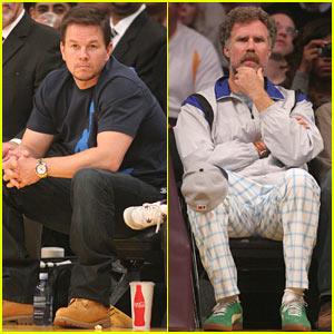 Mark Wahlberg & Will Ferrell: Courtside Laker Guys
