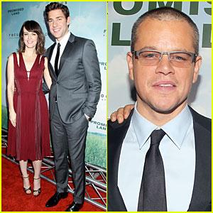 Matt Damon & John Krasinski: 'Promised Land' New York Premiere