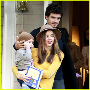 Miranda Kerr & Orlando Bloom Visit Friends with Flynn!