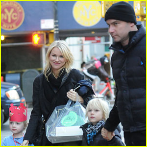 Naomi Watts: Liev Scheiber Loves Biking with the Boys!