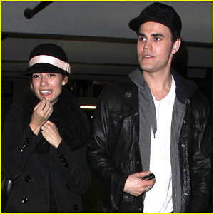 Paul Wesley & Torrey DeVitto: 'Les Miserables' Date Night!