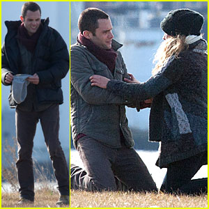Penn Badgley & Teresa Palmer: 'Parts Per Billion' Filming!