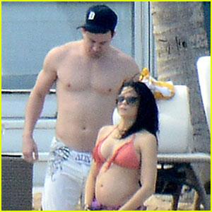 Pregnant Jenna Dewan Bares Bikini Baby Bump with Shirtless Channing Tatum!