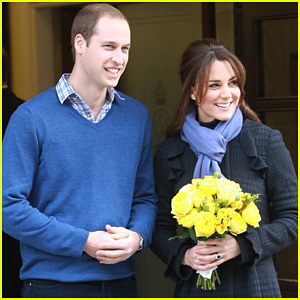 Pregnant Kate Middleton Leaves Hospital with Prince William!