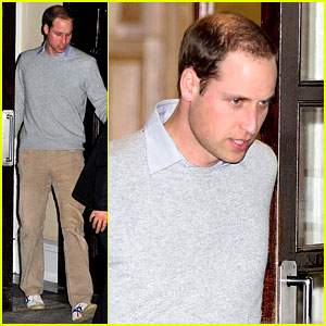 Prince William Leaves Hospital After Kate's Pregnancy News