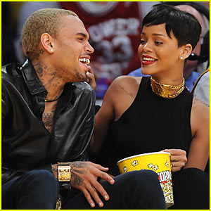 Rihanna Amp Chris Brown Lakers Game For Christmas Chris