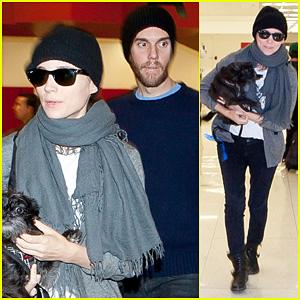 Rooney Mara & Charles McDowell: LAX Pick Up!