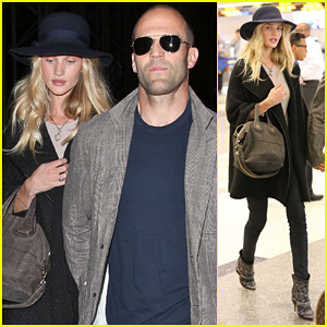Rosie Huntington-Whiteley & Jason Statham: LAX Couple!