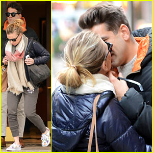 Scarlett Johansson & Romain Dauriac: Kiss Kiss!