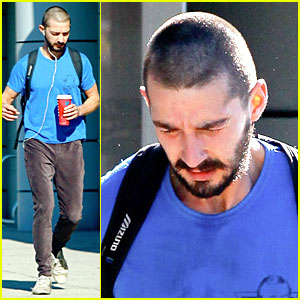 Shia LaBeouf Debuts New Buzz Cut at the Gym!