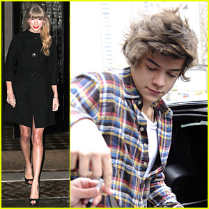 Taylor Swift & Harry Styles Leave Same Hotel Separately!