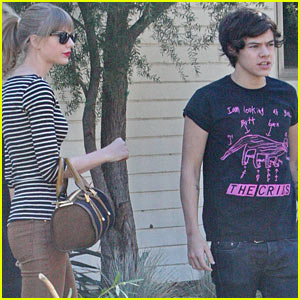 Taylor Swift & Harry Styles Leave Her Home in LA