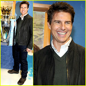 Tom Cruise: 'Jack Reacher' Promotion at the Manchester Derby!