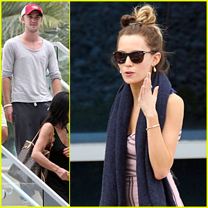 Tom Felton & Jade Olivia: Miami Beach Lunch!