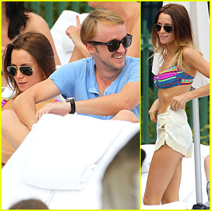 Tom Felton: Poolside with Jade Olivia!