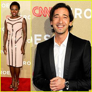 Viola Davis & Adrien Brody: CNN Heroes Tribute!
