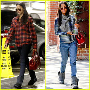 Zoe Saldana Loves the Los Angeles Rain