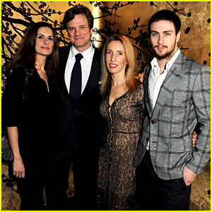 Aaron Taylor-Johnson & Colin Firth: Tom Ford Party!