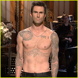 Adam Levine: Shirtless 'SNL' Monologue with Cameron Diaz!