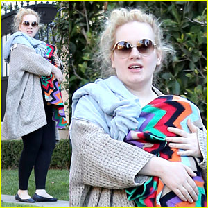 Adele: Beverly Hills Stroll with Baby Boy!
