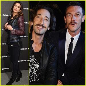 Luke Evans & Adrien Brody: Diesel Milan Fashion Show!