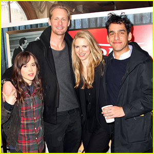 Photo of Brit Marling & her friend actor  Alexander Skarsgard -