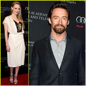 Amanda Seyfried & Hugh Jackman - BAFTA Tea Party 2013