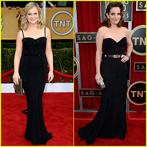 Amy Poehler &amp; Tina Fey - SAG Awards 2013 Red Carpet