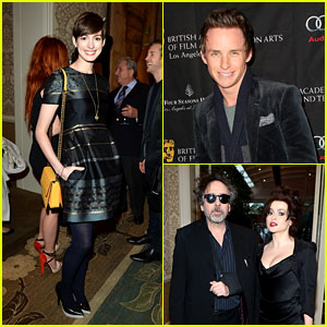 Anne Hathaway & Eddie Redmayne - BAFTA Tea Party 2013