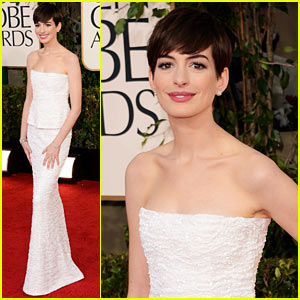 Anne Hathaway - Golden Globes 2013 Red Carpet