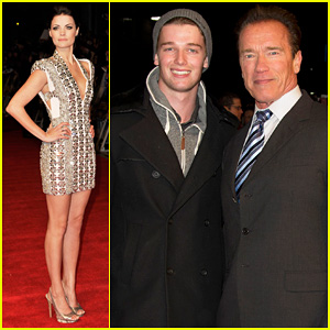 Arnold & Patrick Schwarzenegger: 'Last Stand' European Premiere!