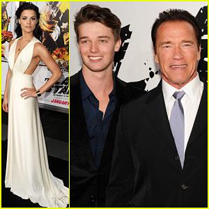 Arnold & Patrick Schwarzenegger: 'The Last Stand' Premiere!