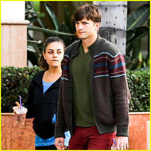 Ashton Kutcher & Mila Kunis: Coffe