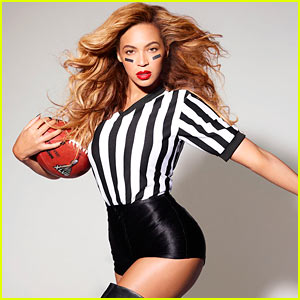 Beyonce: Sexy Referee for Super Bowl Promo!