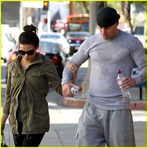 Channing Tatum & Jenna Dewan Sweat It Out at the Gym