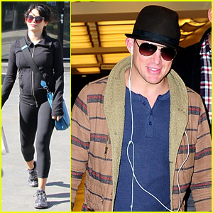 Channing Tatum Lands in NYC, Jenna Dewan Hits the Gym