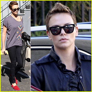 Charlize Theron: Fauxhawk Hairstyle at the Dance Studio!