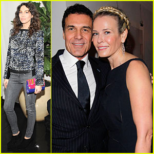 Chelsea Handler & Andre Balazs: 'W' Magazine's Pre-Golden Globes Party!