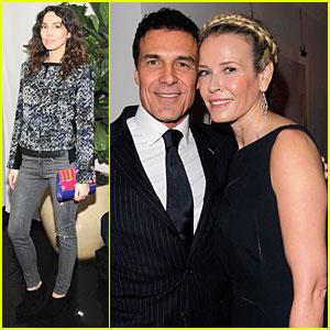 Chelsea Handler & Andre Balazs: 'W' Magazine's Pre-Golden Globes Party!