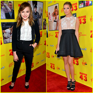 Chloe Moretz & Ashley Tisdale: 'Movie 43' Premiere!