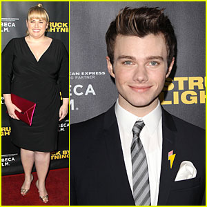 Chris Colfer & Rebel Wilson: 'Struck By Lightning' Premiere!