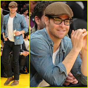 Chris Pine: Lakers Game Night!