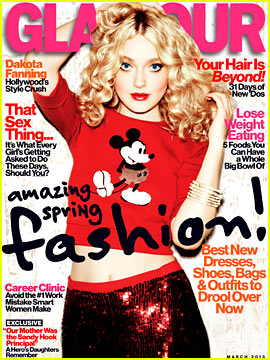 Dakota Fanning Covers 'Glamour' March 2013
