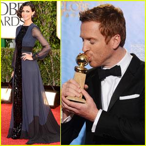 Damian Lewis & Morena Baccarin - Golden Globes 2013