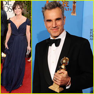 Daniel Day-Lewis & Sally Field - Golden Globes 2013 Red Carpet