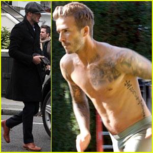 David Beckham: H&M Photo Shoot Sneak Peek!