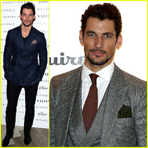David Gandy Attends 'London Collections: Men' Shows