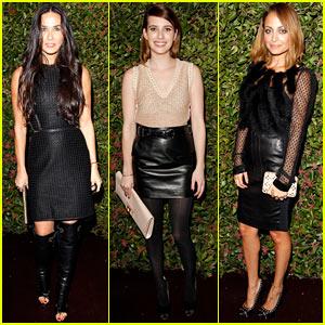 Demi Moore & Emma Roberts: Ferragamo Presentation & VIP Dinner