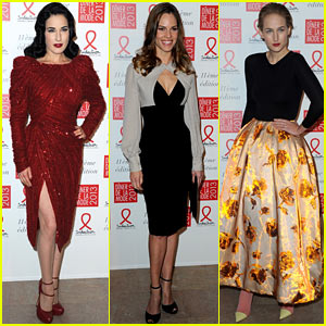 Dita Von Teese & Hilary Swank: Sidaction Gala Dinner!